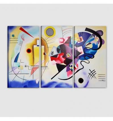 Omaggio a  KANDINSKY -  Quadro astratto dipinto a mano
