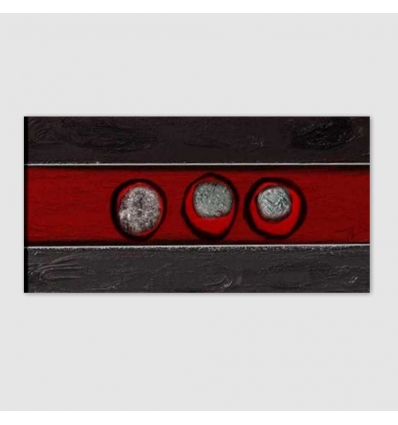 ISEY - Modern painting black red