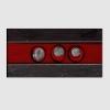 ISEY - Quadro  astratto rosso nero