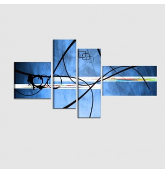 ZINOL - Quadri astratti azzurro