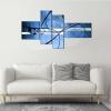 ZINOL - Cuadros abstractos azul