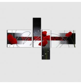 CIPRUS - Cuadros modernos rojo y negro