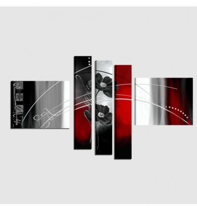 SHIMA - Quadri moderni a 5 pannelli