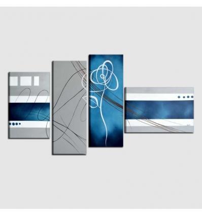 POETICA 2 .Quadro moderno azzurro bianco