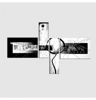 AGAPE - Cuadros modernos abstractos blanco y negro