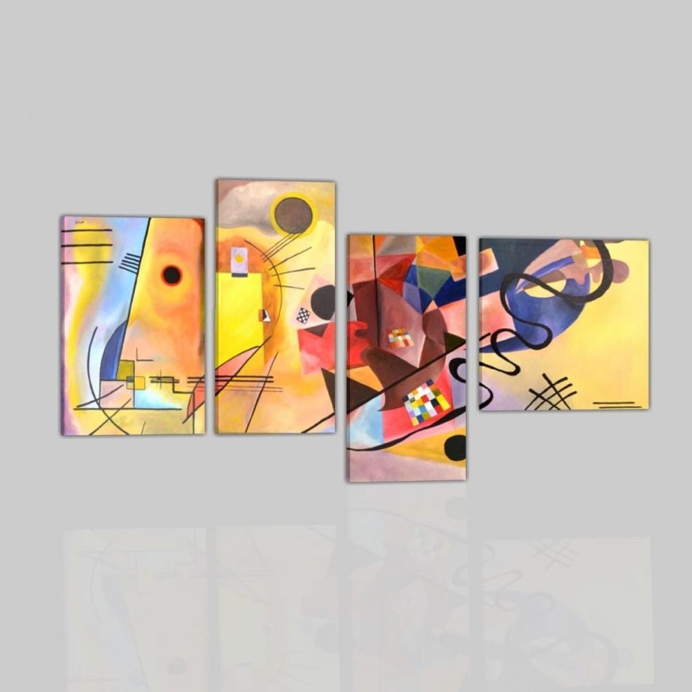 Quadri astratti kandinsky giallo rosso e blu - Dipinti moderni per cucina ...