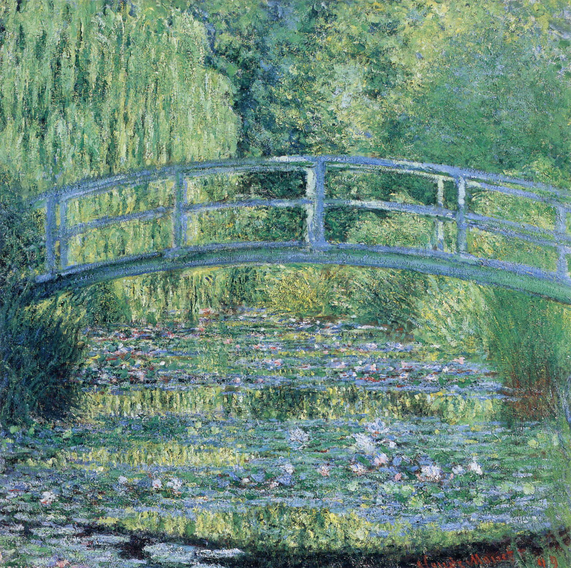 Monet - Stagno delle ninfee, armonia verde