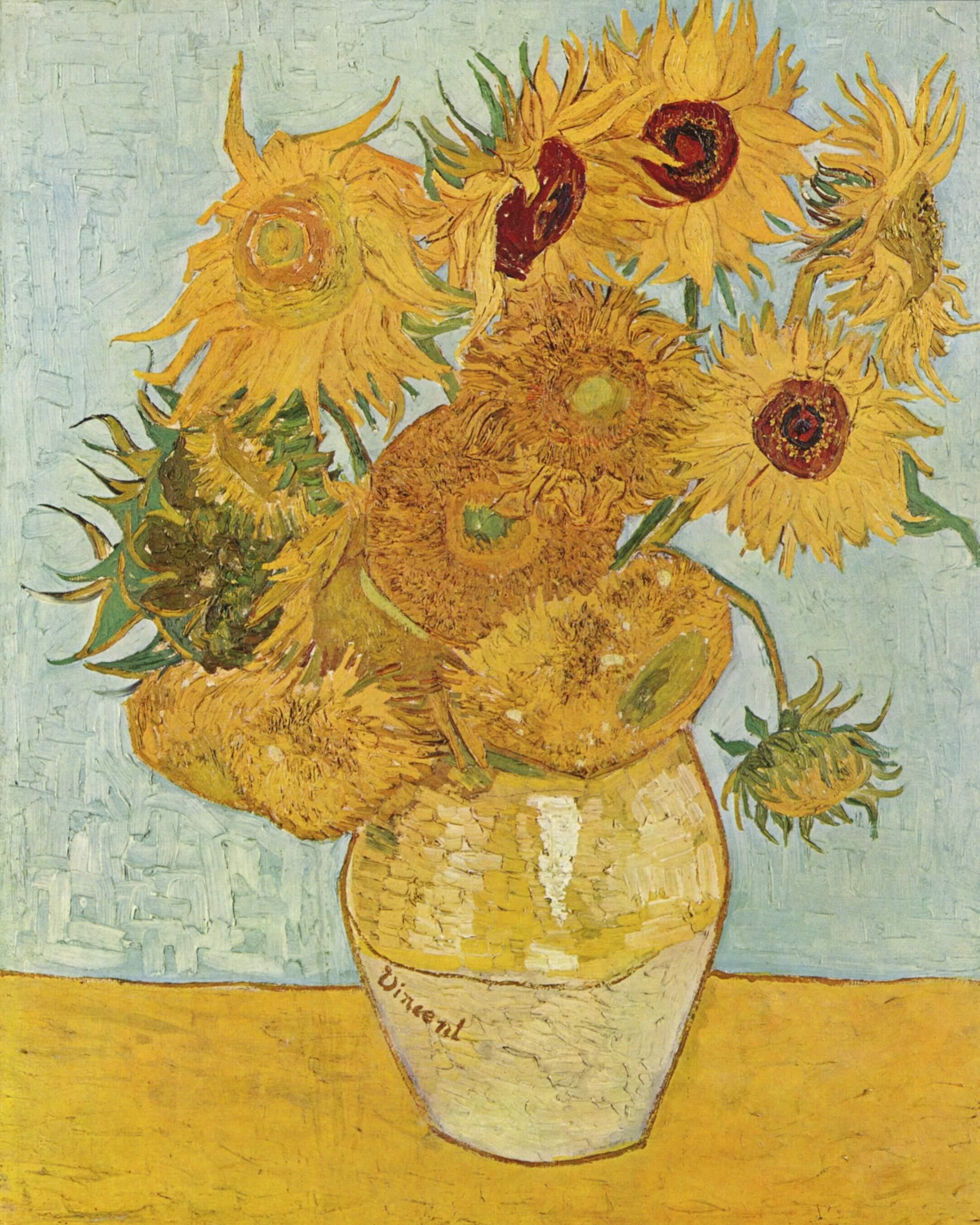 Van Gogh - Vaso con dodici girasoli