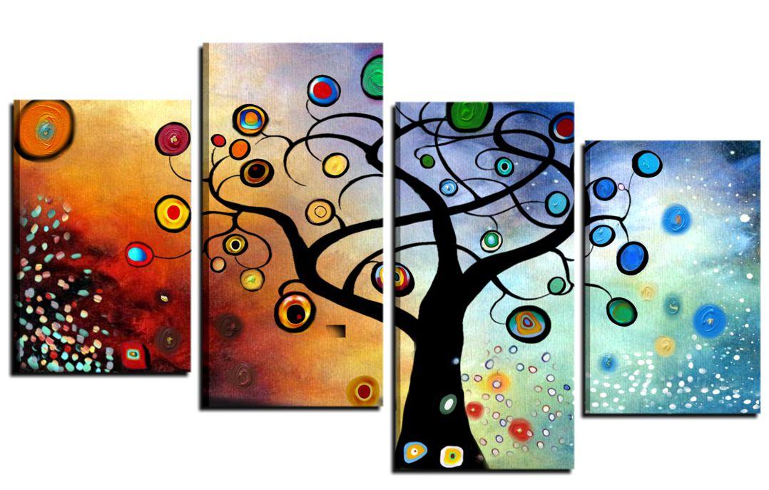 i quadri con raffigurazione di alberi stilizzati
